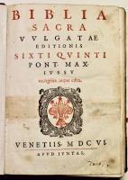 BIBLIA SACRA Vulgatae editionis Sixti Quinti Pont. Max. jussu recognita, atque edita