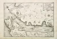 Le port et la ville de Mahon le Bourg et le fort de S.t Philippe dans l'isle de Minorque l'une des isles de la Mer Mediterranée sur les côtes a'Espagne.
