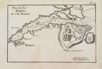 Plan du Port Mahon sur l'Isle Minorque