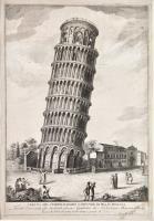 Veduta del celebratissimo campanile di Pisa in Toscana fondato l'anno 1074. Gli architetti furono Guglielmo da Norimberga e Bonanno Pisano.