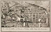La città di Gubbio nel Ducato d'Urbino dello Stato Ecclesiastico