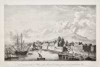 Vue générale de la Ville & du Port de la Catane prise sur le bord de la Mer
