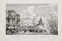 Procession du Char de S. Rosalie à son entrée dans le Cassoro par la Porta Felice