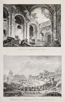 Ruines de l'Amphithéatre de Catane (Insieme a:) Rétablissement de l'Amphithéatre de Catane tel qui'il éxiste sous terre.