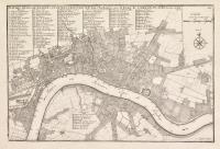 Plan des villes de Londres et de Westminster et de leurs Faubourgs avec le Bourg de Southwark
