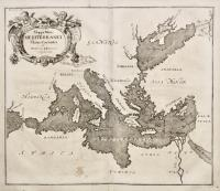 Mappa Maris Mediterranei fluxus currentes et naturam motionum explicans