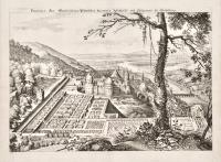 Prospect: des Churfuerstlichen Vfaeltzlischen Resident Schlosses und Lustgartens zu Heidelberg