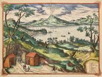 Elegantissimus ad mare Thyrrenum ex monte Pausillipo Neapolis montisque Vesuvij prospectus