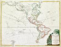 L'Amèrique divisée dans les principaux Etats avec les Nouvelles Decouvértes du Capit. Cook