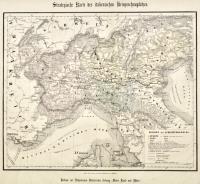 Strategische Karte des italienischen Kriegsschauplatzes