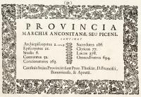 Provincia marchiae anconitanae, seu piceni