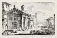 Veduta del tempio della Fortuna virile