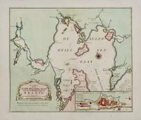 Kaart van de Aller-Heiligen Baay waar aan de Hoofdstad legt van Brazil