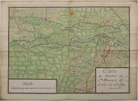 Carte des Environs de S.ta Maria et de Zevio sur L'Adige.