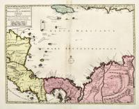 Nova Isthmi Americani qui et Panamiensis item Dariensis, Tabula, in qua Urbes Portobello, Panama et Carthagena