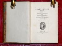 Teiou mele praefixo commentario quo poetae genus traditur et biblioteca anacreonteia adumbratur.
