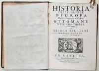 Historia delle guerre d'Europa dalla comparsa dell'armi ottomane nell'Hungheria.
