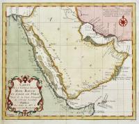 Carte de la coste d'Arabie, Mer Rouge et golfe de Persie...