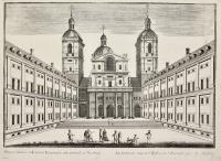 Primum Atrium et Ecclesia Escurialis non procul a Matrito (ripetuto in francese).