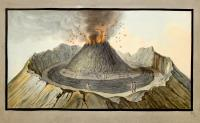 Interiour view of the crater of Mount Vesuvius as it was before the great eruption of 1767. (tav. IX).