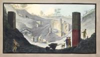 View of the first discovery of the Temple of Isis at Pompeii (tav. XXXXI).
