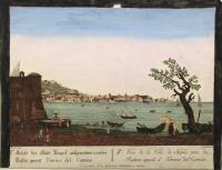 Ansicht der Stadt Neapel... - Vue de la ville de Naples prise du Bastion applé il Torrione del Carmine.