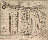 De roemruchtige victorie van Prins eugenius, by Luzzara tusschen Guastalla en Borgoforte de 15 Aug 1702. (ripetuto in latino).
