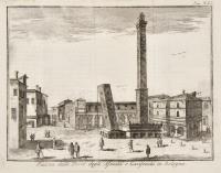 Piazza delle Torri degli Asinelli e Garisenda in Bologna.