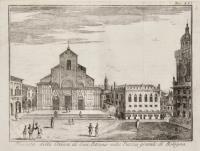 Facciata della Chiesa di San Petronio nella Piazza grande di Bologna.