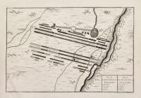 Plan de la bataille de Luzzara-(titolo ripetuto in olandese).