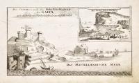 Gaeta (Insieme a:) Das Castel wie auch der Hohe felsichteberg zu Gaeta...(Insieme a:) Monte Trinità oder der Berg zur Heyl...