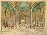 Vüe perspective du dedans de l'Eglise des chartreux de Pavie en Italie.