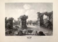 1.ere Vüe des ruines du Pont d'Auguste sur la Nera a Narni.