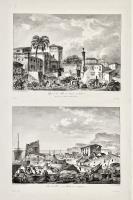 Vue de la ville de Palma en Sicile (Insieme a sullo stesso foglio:) Vue du port ou mole de Girgenti