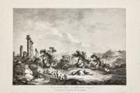 Vue des diverse ruines et monumenta antique dessinée dans les environs de l'ancienne Agrigente