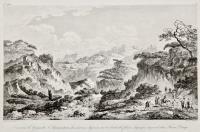 Environs de Girgenti l'Agrigentum des anciens dessinès sur le bords du fleuve Agragas...fiume Drago