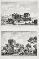 Vue des Ruinnes du Temple d'Esculape à Agrigente (Insieme a:) Vue d'un Tombeau Antique à Agrigente, connu sons le nom de Tombeau de Theron