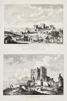 Vue prise sur le sommes du Mont Erix, le Temple célèbre de Venus Erieyne (Insieme a:) Vue d'un Chateau Gothique, bati par les Sarrazins sur le sommet du Mont Erix.
