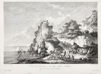 Vue des Rochers ou Capo della Scaletta sur les cotes de la Sicile
