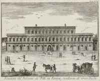 Facciata del Palazzo de' Pitti in Firenze, residenza de' Gran Duchi
