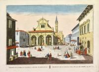Prospetiva de la yglesia y de la plaça de S. Pedro a Florencia.