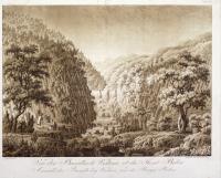 Vue des Basaltes de Vestina et du Mont Bolca (titolo ripetuto in tedesco).