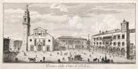 Piazza della città di Belluno.