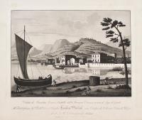 Veduta di Bardolino. Terra e castello della provincia veronese in riva al lago di Garda.