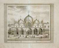 Veduta della Chiesa Ducal di S. Marco (titolo ripetuto in latino al centro e francese a d.)