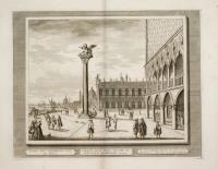 Veduta della Piazzetta, verso la Zecca  (titolo ripetuto in latino al centro e francese a d.).