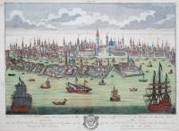 Prospectus di Venetia, praecipua Urbs Reipublique, ad Mare Adriatticum. (titolo ripetuto in italiano, francese e tedesco).