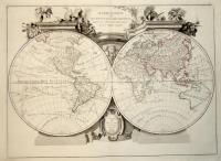 Mappe Monde ou description du globe terrestre assujettie aux observations  astronomiques…