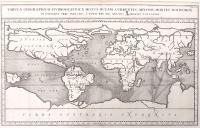 Tabula geographico-hydrographica motus oceani currentes, abyssos, montes igniuomos in universo orbe indicans.