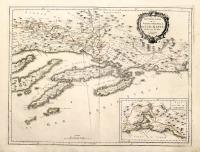 Nouvelle carte de la partie occidentale de Dalmatie dressée sur les lieux (insieme a:) Nouvelle carte de la partie orientale de Dalmatie dressée sur les lieux.